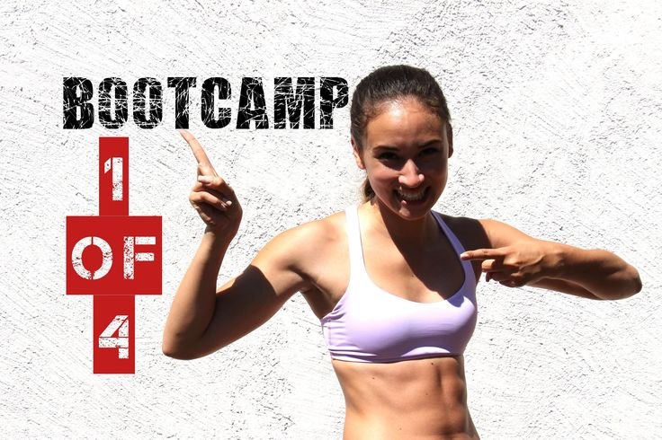 Bootcamp Workout #1 - Schlanke Beine, Straffer Po, Sixpack - effektiv Fe...