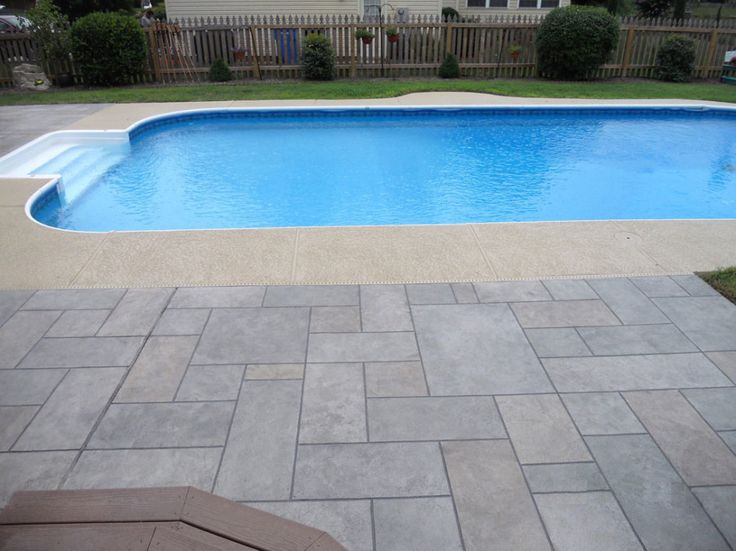 23 best images about pool deck on pinterest decks pool houses and patio for Painting aluminum swimming pool coping