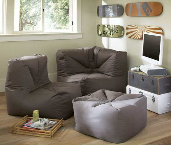 Teens may not care about a lot of floor space, so seating like this Cushy Lounge Sectional from PBteen creates a study nook and hangout area worthy of having friends over.