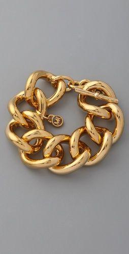 Michael Kors chunky gold bracelet