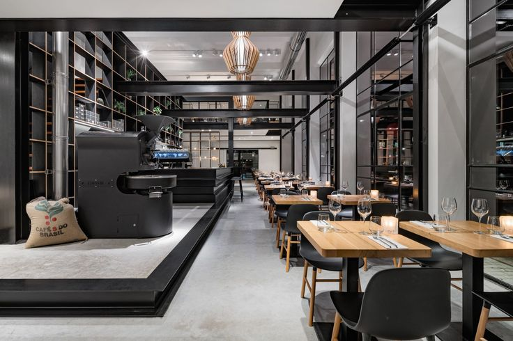 Completed in 2016 in The Hague, The Netherlands. Images by René van Dongen , Pascal Striebel. Amsterdam based architecture studio Bureau Fraai has converted a former paint factory in The Hague into a coffee bar, restaurant and business centre...