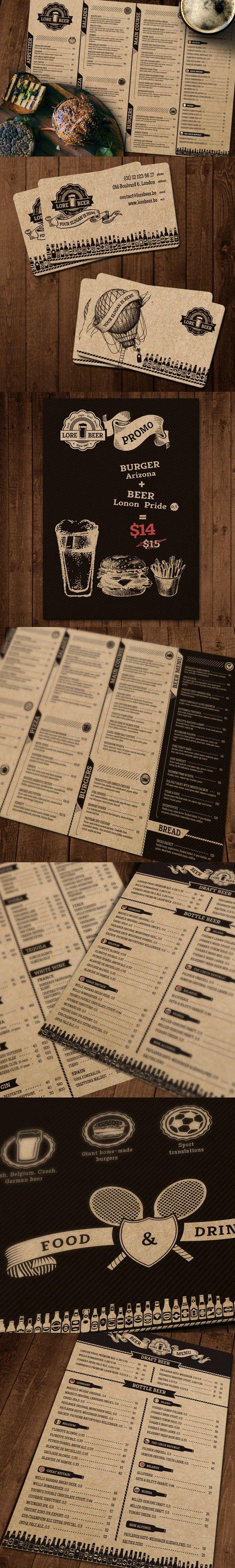 Lore Beer Pub menu layout