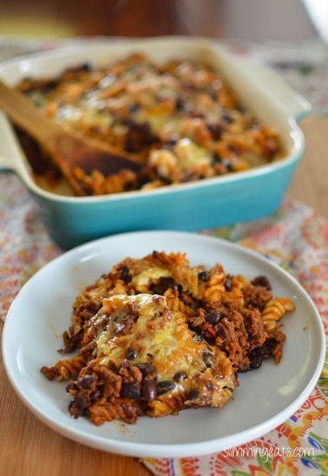 Mexican pasta bake Slimming world