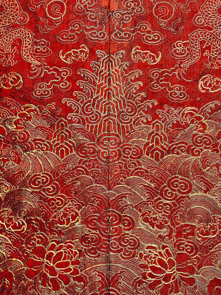 Detail of Festival Robe, Qing dynasty (1644–1911), 19th-century. The Metropolitan Museum of Art, New York. Anonymous Gift, 1944 (44.122.2) Photography © Platon #ChinaLookingGlass #AsianArt100