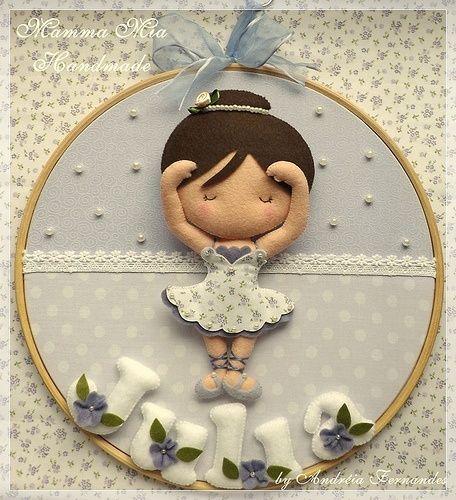 Bailarina - Enfeite porta maternidade bailarina