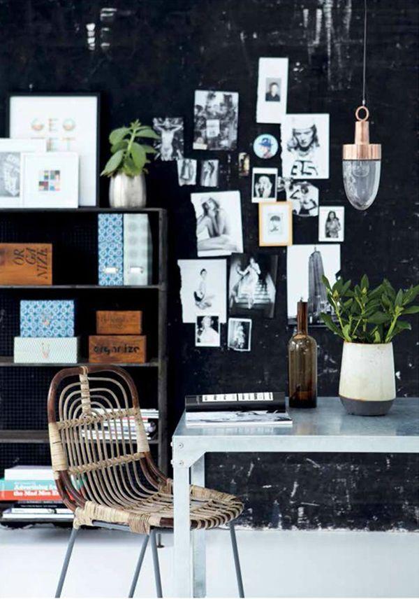 Love the #copper #lamp! | Danish #interiors brand @Allison House Doctor.