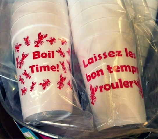 Personalized Crawfish Boil Cups by Mint Julep Paperie in Shreveport, LA