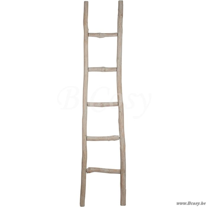 "J-Line Ladder ruw 5 treden hout antiek grijs 41cm 180 <span style=""font-size: 0.01pt;"">Jline-by-Jolipa-58513-ladder-sierladder-echelle-brut-echelles-sierladders-ladders-vie-à-la-campagne-mobili</span>"