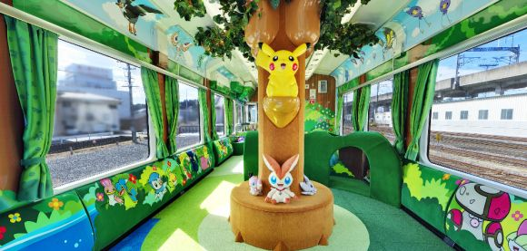 Pokemon train inside, Japan; now I REALLY WANT TO GO TO JAPAN!!!