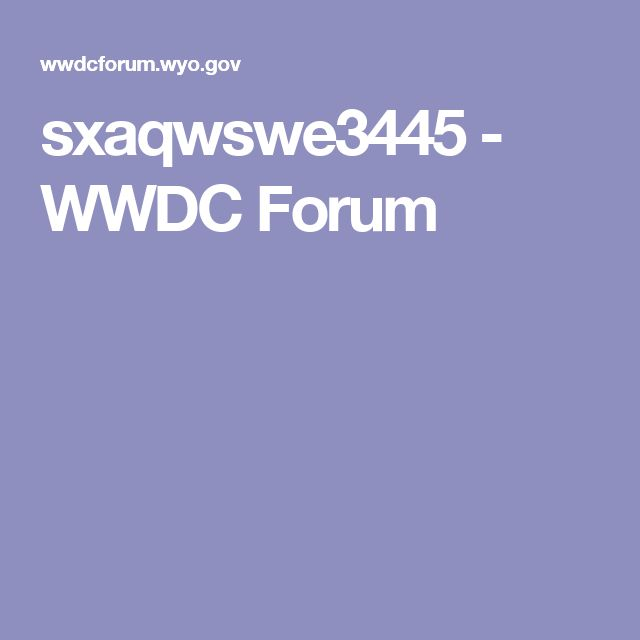 sxaqwswe3445 - WWDC Forum