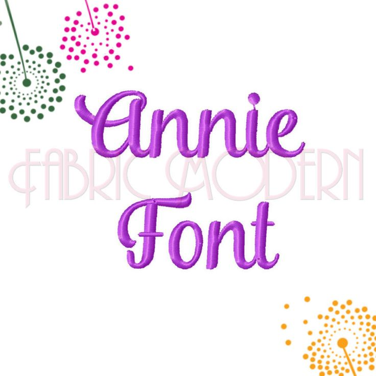 ANNIE SCRIPT FONT Embroidery Font Design,  1/2 inch size, small script, #631 by FabricModern on Etsy