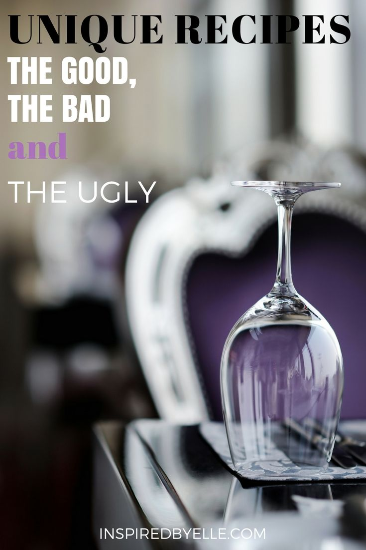 Like that famous Clint Eastwood movie, food can be good, bad and even ugly.. #Food #Cuisine #Unique #Recipes