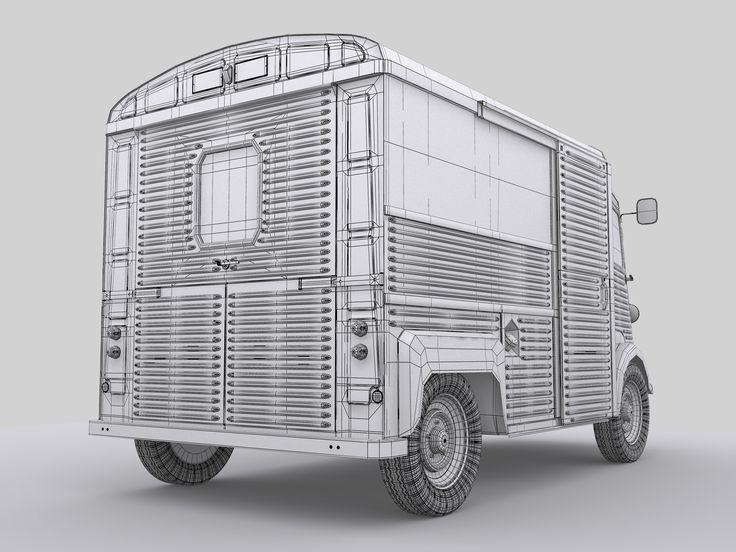 Citroën HY 3D model.  Impressive details...