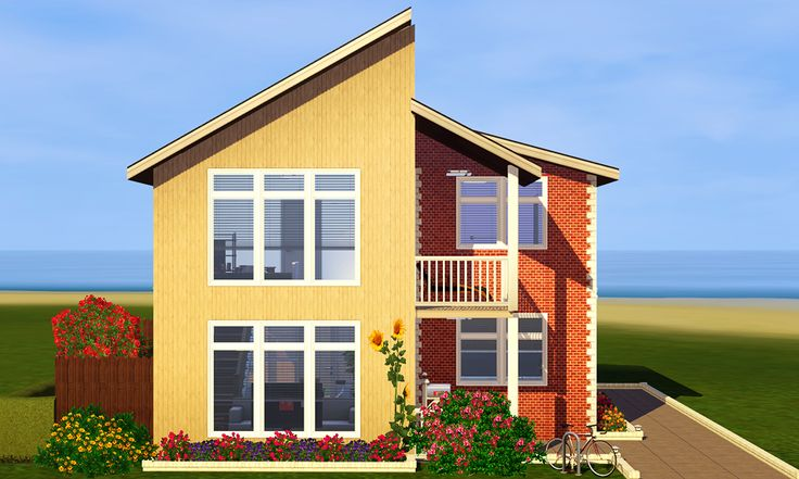The Wood + Brick by Simleesis      Lot Size: 15 x 15 (Placed with this mod)     Requirements: I have all EPs and SPs     Price: $68,374 (Furnished), $16,337 (Unfurnished)     CC: Windows (Window 1), Roof (Neutral Slate Recolors (Black))     Floorplan: 1, 2  Download: Furnished + Unfurnished (Place in Library folder)