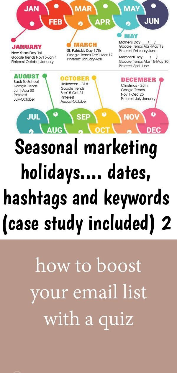 Seasonal Marketing Holidays Dates Hashtags And Keywords Case Study Included 2 Marketing Calendar Google Trends Marketing