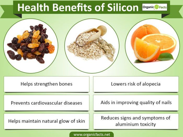 Silicon is also known as a beauty mineral and thus, there are many health benefits of silicon. It not only causes the strengthening of connective tissues and bones, but is also useful in taking care of nails, hair and skin. The health benefits of silicon also play a vital role in the prevention of atherosclerosis, insomnia, skin disorders and tuberculosis. Silicon is the second most available element found in the earth's crust. It is one of the most important elements used in high tech…