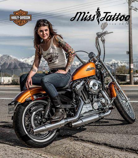 Harley-Davidson partenaire de la 1ere élection de Miss Tattoo