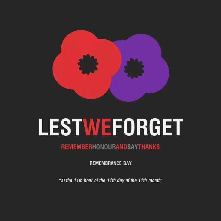 """This #RemembranceDay let's all pay tribute to those who have served and those currently serving our country. #RememberThem  Remember honour & say thanks! """"at the 11th hour of the 11th day of the 11th month""""  #LestWeForget #ArmisticeDay #PurplePoppies #PoppyDay"""