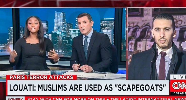 "WATCH: CNN anchors berate innocent Paris Muslim because he won't accept responsibility for attack. When was the last time people were asked why they didn't stop KKK violence just because they are white and therefore ""should know what is planned""."