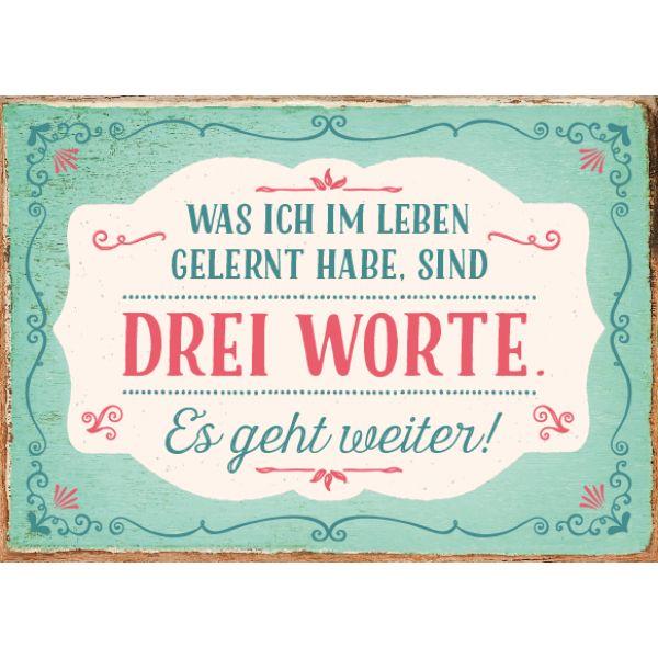 Drei Worte. Grafikwerkstatt BielefeldPostkarten SprücheDeutsche ...