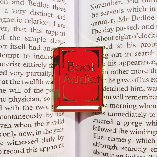 Book Addict Enamel Pin from #CandyDollClub by #JadeBoylan