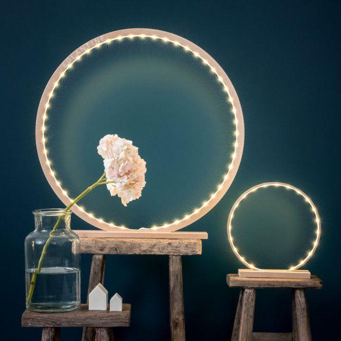 Lampe à poser en bois peint - Le Petit Florilège - Déco, maison, enfant, luminaires, cadeaux de Noël
