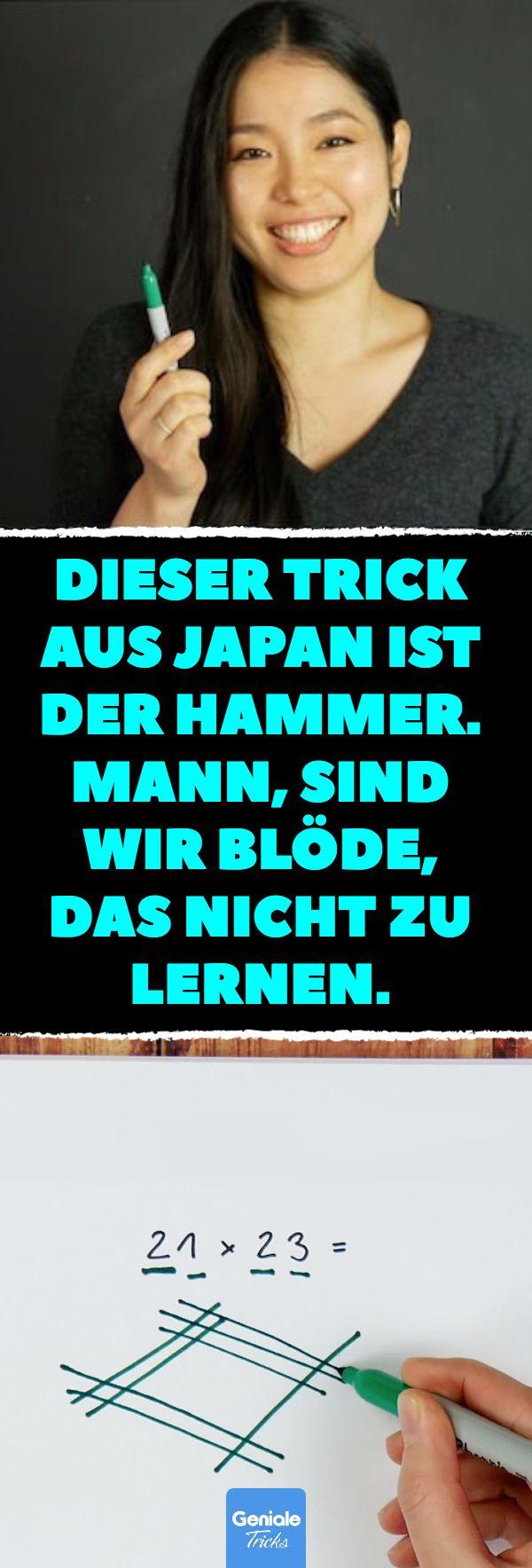 Dieser Trick aus Japan ist der Hammer. Mann, sind wir blöde, das nicht zu lerne…