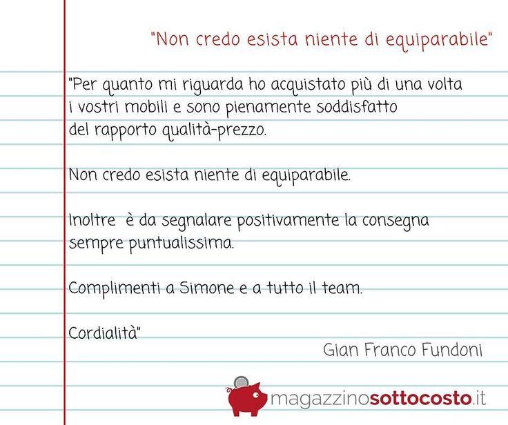 Cerchi veramente un buon rapporto #QUALITA'/#PREZZO?  Quando si parla di #mobili in #Italia non c'è di equiparabile a Magazzinosottocosto.it