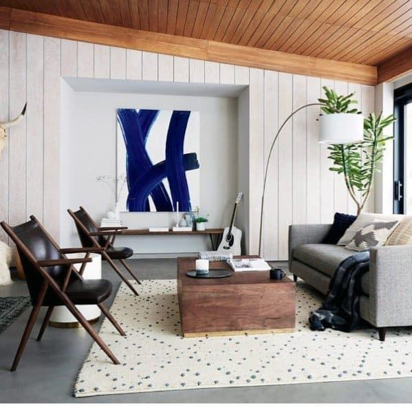 Top 60 Best Wood Ceiling Ideas Wooden Interior Designs In 2020 Country Interior Design Interior Design Blue Chairs Living Room #wood #ceiling #ideas #for #living #room