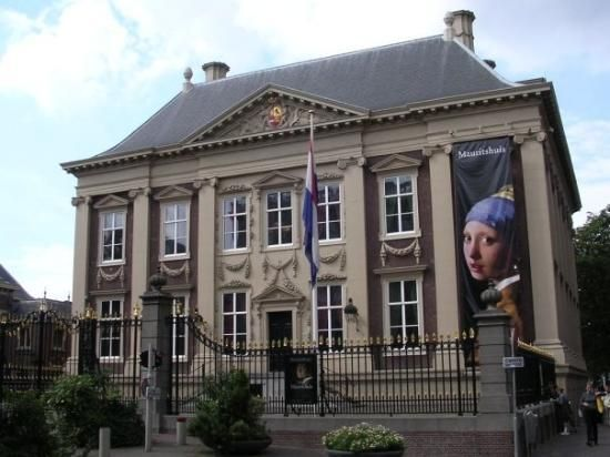 Mauritshuis, this museum houses very famous works like' The Girl With the Pearl Earring by Vermeer, The Bull by Paulus Potter and several paintings by Rembrandt
