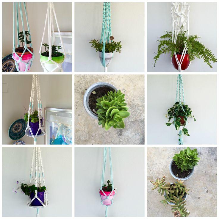The perfect way to hang indoor plants! #macrame #planthangers #indoorplants #giftideas #diy #artesense