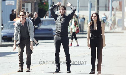 Colin O'Donoghue, Sean Maguire and Lana Parilla - Behind the scenes- 5 * 5 - 21 August 2015