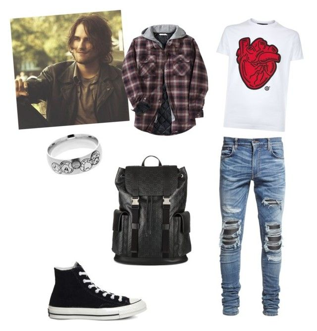 """Life in death"" by queen-olmos on Polyvore featuring Dsquared2, Other, AMIRI, Converse, Gucci, men's fashion and menswear"