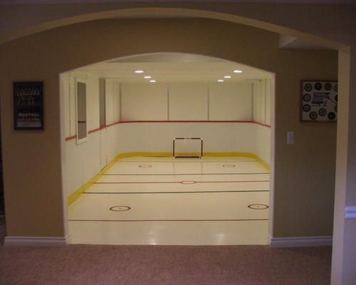 25 best ideas about hockey theme bedrooms on pinterest hockey bedroom hockey room and boys - Boys basement bedroom ...