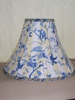 Great tutorial on covering lampshades.