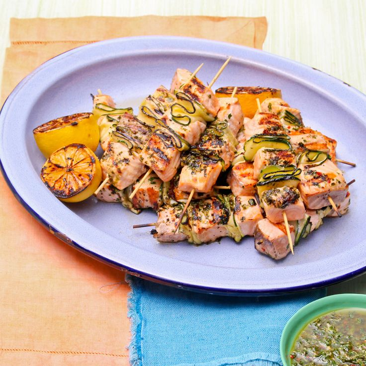 Get these Salmon skewers on your BBQ! They are delicious http://bit.ly/1zMlZK3 #Woolworths #Recipe #Salmon #SalmonSkewers #WhatsForDinner #DinnerRecipe #Summer #BBQ