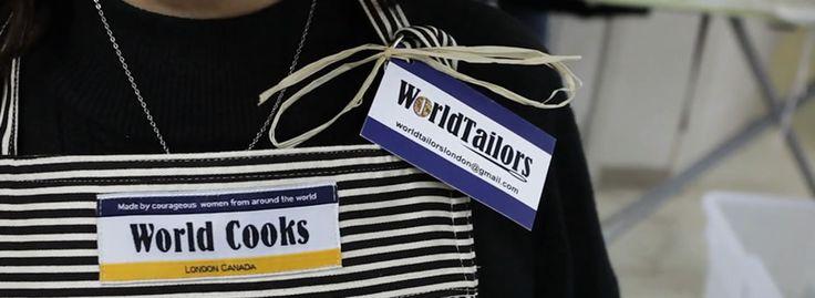 world tailors aprons made by local women - social enterprise #ldnont