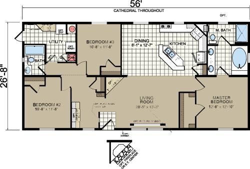 Morton building homes floor plans redman a526 35x60 house plans
