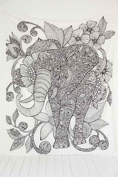 Valentina Harper Ruby The Elephant Tapestry Apartment