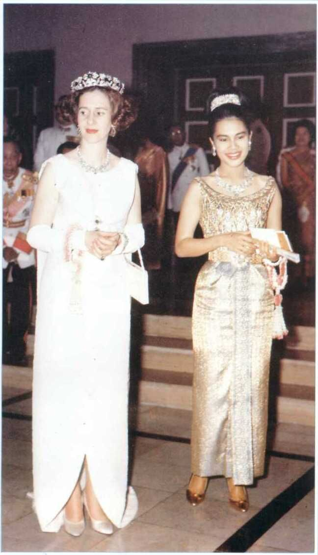 Queen Fabiola and Queen Sirikit