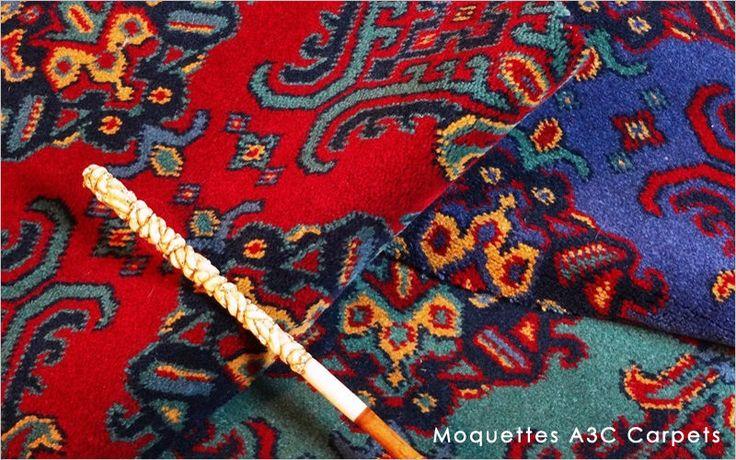 Moquettes A3C Carpets - Collection Smyrne Turkey - Tissage axminster 80% laine 20% nylon - 3 coloris 3,66m de large