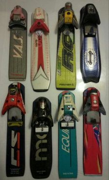 These Bottle Openers with ski binding holders are fun gifts for skiers, snowboarders, and Apres Ski Beer Lovers! The holders are fashioned out of the tail end of a ski and the front of an old binding. Each holder comes with a bottle opener. These combo pieces makes a great man cave gift or Bar accessory. These are SAMPLES. Each one is different. As always, they are made in Vermont. Scratches and Dings are typical on recycled equipment.