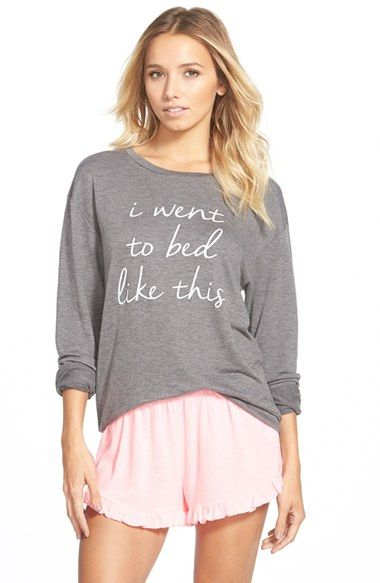 Free shipping and returns on Ten Sixty Sherman 'I Went to Bed Like This' Long Sleeve Tee (Juniors) at Nordstrom.com. Tell it like it is with this soft long-sleeved shirt, perfect for bed-bound beauties.