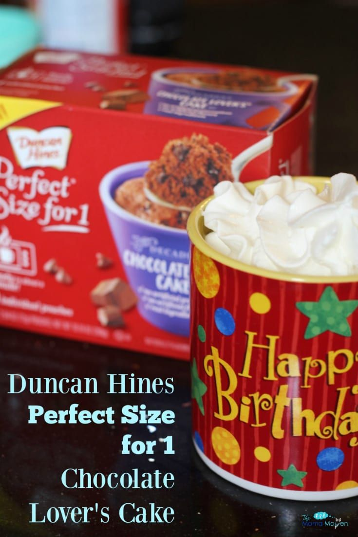 Duncan Hines Perfect Size for 1 Cake is the Perfect Warm Treat For Me #AD @realduncanhines