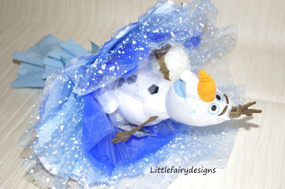 Frozen gift OlafBouqet  gift bouquet  toy by Littlefairydesigns