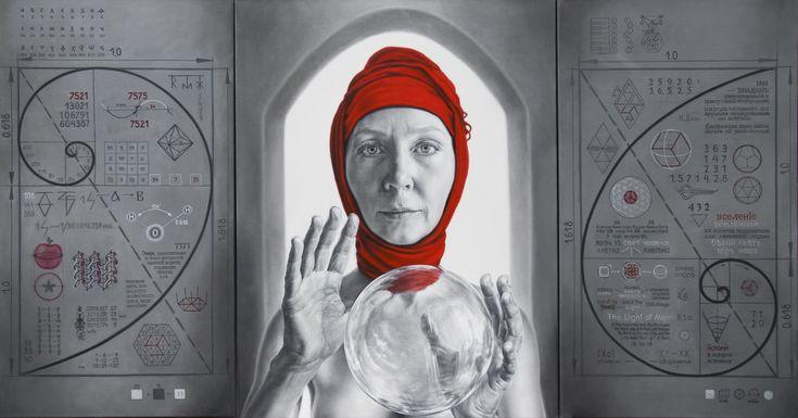 """Apocrypha of ARINA"", painting by Arina Gordienko.  Visit Art Galaxie to see more of her artwork:"