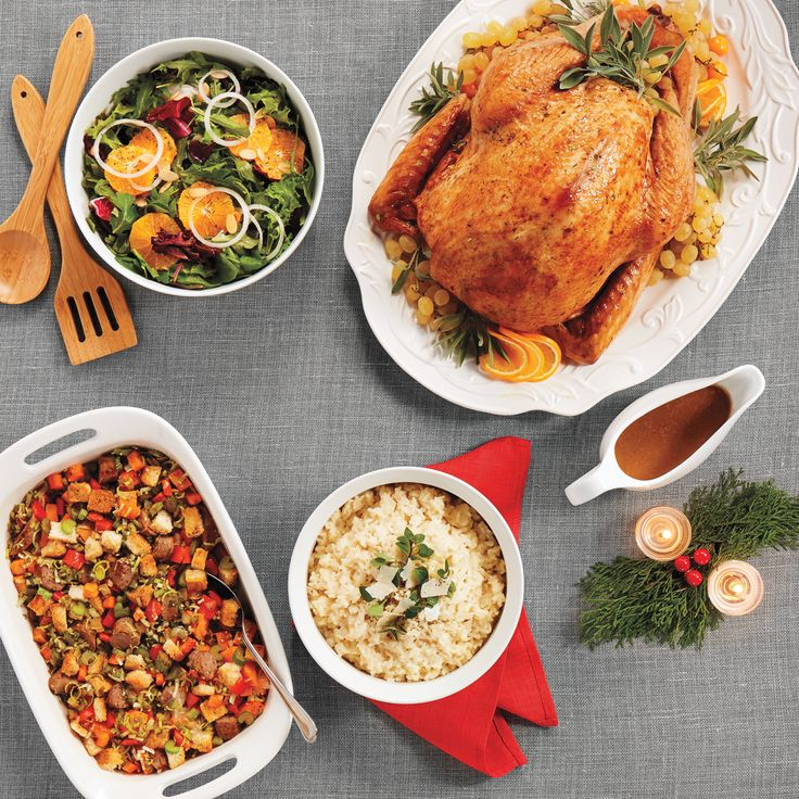 A foodie fest: Turkey and its best plate mates, the sides. #entertaining #holidayprep #menu #partyprep #dinner
