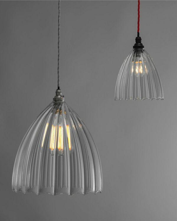 Lampenschirme Glas - Aus Glas gefertigte Lampenschirme sind so charmant!  - http://freshideen.com/wohnideen/lampenschirme-glas.html