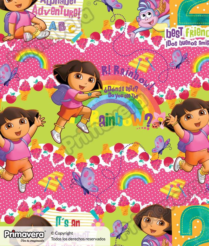 Papel Seda Estampado Dora la Exploradora 000019-993 http://envoltura.papelesprimavera.com/product/papel-regalo-seda-estampado-dora-la-exploradora-000019-993/