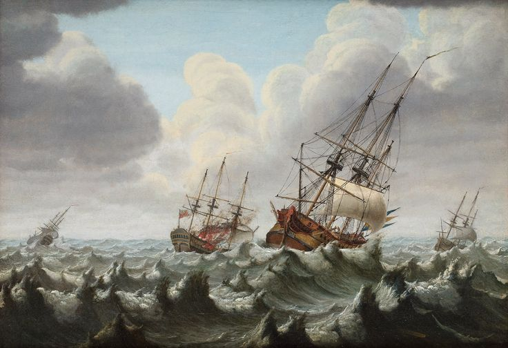 Battle at Orford Ness 1704 by Johan Tietrich Schoultz